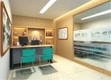 农业银行装修家具 理财室办公桌 设计制作 设计订做